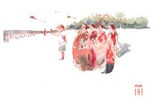 women and Kites on the beach by omar.paint, via Flickr