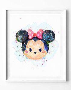 Disney+Minnie+Print+Tsum+Tsum+Party+by+DigitalPrintCharlie+on+Etsy