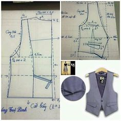 Sewing & pattern making. Sewing Men, Sewing Clothes, Diy Clothes, Coat Patterns, Dress Sewing Patterns, Clothing Patterns, Techniques Couture, Sewing Techniques, Pattern Cutting