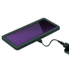 This solar powered cell phone charger is a life saver in airports, while driving, or when hiking.