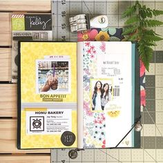 Travel journal pages and scrapbook inspiration - ideas for travel journaling, art journaling, and scrapbooking. Travel Journal Pages, Journal Notebook, Notebook Ideas, Travel Journals, Diary Writing, Photo Journal, Book Projects, Art Journal Inspiration, Smash Book