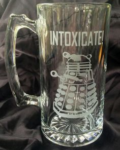 Dalek INTOXICATE Dr doctor Who Inspired Custom by FanArtGlassware