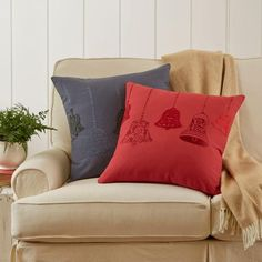 Norah Pillow Cover   Made from pure cotton, this soft, embellished pillow cover is the perfect complement to a neutral motif.