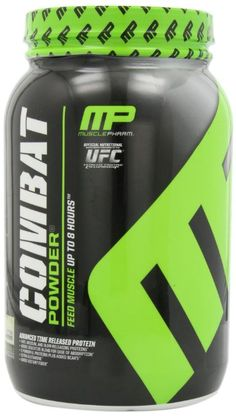 Muscle Pharm Combat Powder Advanced Time Release Protein, Vanilla, 2 Pound