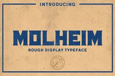 Molheim Typeface by BART.Co Design on @creativemarket