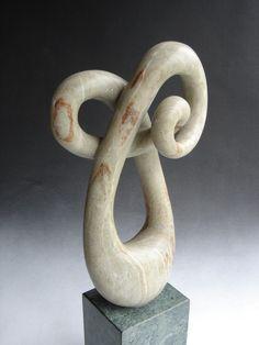 Enerrgy Form, stone sculpture.