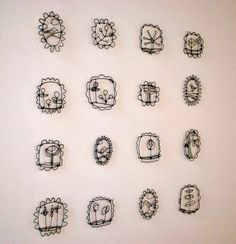 Wire Drawings Installation view by gilhooly studio, via Flickr