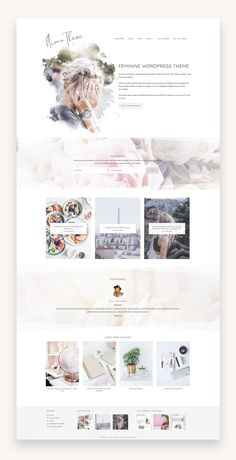 Discover recipes, home ideas, style inspiration and other ideas to try. Website Design Inspiration, Blog Website Design, Blog Design, Design Web, Website Web, Blog Layout, Website Layout, Website Themes, Web Layout