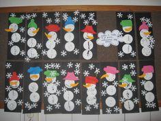 sněhuláčci ve Sluníčku-moje tvoření s dětmi