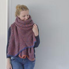 Rautenschal | Strickanleitung Schal mit Hebemaschen