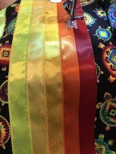 Native American Dress, Native American Fashion, How To Make Ribbon, Ribbon Work, Cherokee Clothing, Fancy Shawl Regalia, Beadwork, Beading, Jingle Dress