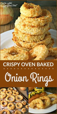 Crispy Baked Onion Rings | Life, Love, and Good Food #recipe