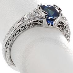 Sapphire Engagement Ring. Swapped with a tanzanite and it'd be my favorite ever ever ever. Conscious SIngle Connect