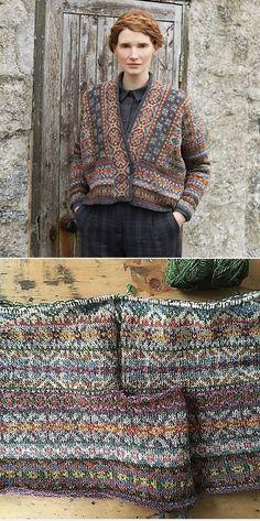 Knitting Patterns Wear Lerwick (Fair Isle Club by Marie Wallin Punto Fair Isle, Motif Fair Isle, Fair Isle Pattern, Fair Isle Knitting Patterns, Jumper Patterns, Knitting Designs, Knit Patterns, Knitting Tutorials, Stitch Patterns
