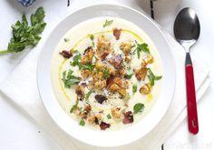 Blomkål- og fennikelsuppe med sprøstekt bacon og blomkålbuketter - Elin Larsen