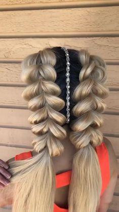 Braided Hairstyles Tutorials, Easy Hairstyles For Long Hair, Braids For Long Hair, Beanie Hairstyles, Braided Ponytail Hairstyles, Girl Hairstyles, Hair Up Styles, Hair Videos, Food Videos