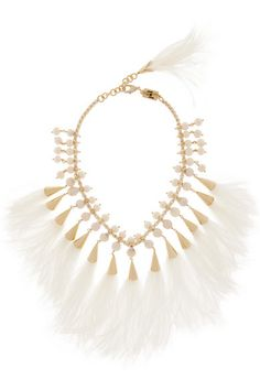 Rosantica | Faggio gold-tone, feather and pearl necklace | NET-A-PORTER.COM
