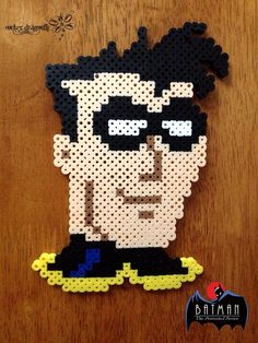 From Batman: The Animated Series, Dick Grayson: Robin !!! Perler Bead Creations by: RockerDragonfly