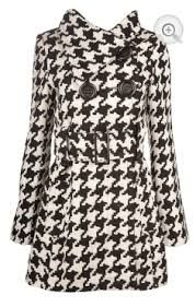 Classic and chic houndstooth wool coat #coat #wool #winter #fashion