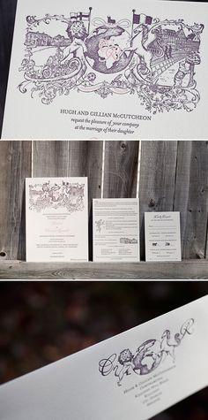 Bella Figura custom illustrated invitations