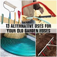 13 Alternative Uses For Your Old Garden Hoses - Most people have some kind of hose lying around, or their parents do, or you'll see them at garage sales and the local gardening nursery. Coiled and shoved into a corner somewhere to be used 'just in case.' Why not upcycle those hoses into something useful!