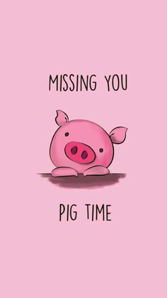 Funny Pun: Missing You Pig Time - Animal Humor - Punny Cute Puns, Funny Puns, Pig Puns, Funny Humor, Corny Love Jokes, Pun Card, Doodles, This Little Piggy, Funny Love