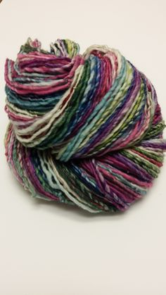 Hand dyed, hand spun merino spun to DK/Worsted weight single https://www.etsy.com/listing/185790098/sophisto-hand-dyed-hand-spun-art-yarn?ref=shop_home_active_7 www.nicolefrost.net