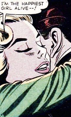 "༻⚜༺ ❤️ ༻⚜༺ ""I'm The Happiest Girl Alive--!"" | #VintageComic #Passion #Love…"