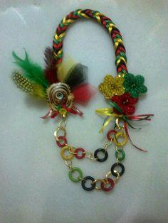 Collar fantasía de garabato  Carnaval de Barranquilla
