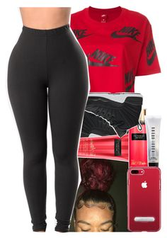 """Untitled #558"" by kklbarnes ❤ liked on Polyvore featuring NIKE, Victoria's Secret and Bobbi Brown Cosmetics"
