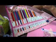 Dica de Sexta - Estojo de enrolar para 24 lápis (Tutorial Patchwork) - YouTube