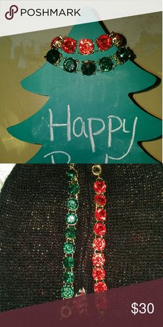 2 large stone tennis bracelets One red one green. NWT. GREAT FOR THE HOLIDAYS AS WELL AS AFTER. You get a $10 discount for buying one of each. WILA Jewelry Bracelets