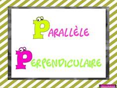 ligne, parallèle, perpendiculaire, activité tni, tbi, mathématique Maths, Languages, Creations, School, Frame, Primary Education, Day Care, Coloring Pages, Fishing Line