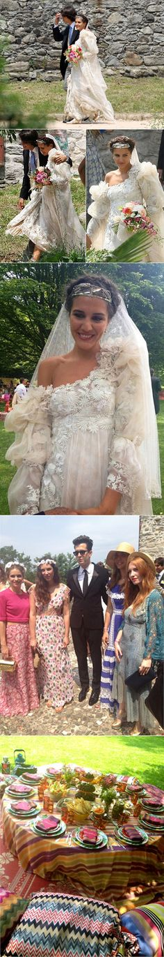 Margherita Missoni's wedding to race car driver Eugenio Amos in 2012.