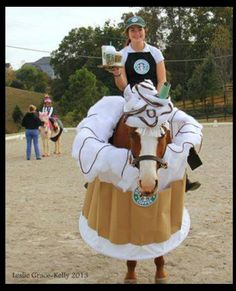 me and my horse are going to look pretty good.