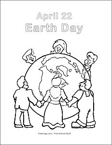 FREE - It's Earth Day Coloring Page