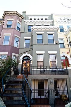 1910 Adams Morgan row house condominium of interior designer John Hutson,