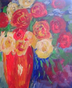 I am going to paint Roses Aplenty at Pinot's Palette - Sanderlin to discover my inner artist!