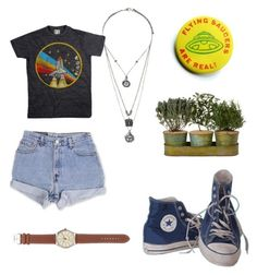 Untitled #43 by thecutecactus on Polyvore featuring polyvore, Levi's, J.Crew, Topshop, Converse, fashion, style and clothing