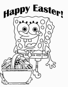 Baby Spongebob Colouring Sheet to print coloring pages to print