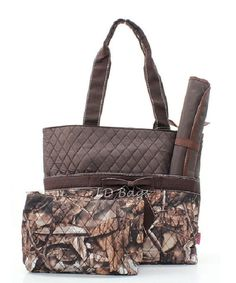 Camo Woods Brown Trim  Diaper Baby Bag with by MonogramExpress, $29.00