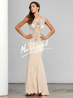 Nude Couture Dress with Sparkling Embellishments   Mac Duggal 20000D