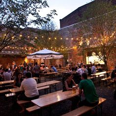 frankford hall beer garden