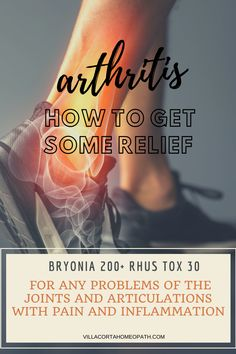 How to Heal Arthritis and Joint Problems with a Few Homeopathic Remedies Alternative Therapies, Alternative Health, Holistic Healing, Natural Healing, Homeopathy Medicine, Types Of Arthritis, Detox Tips, Nerve Pain