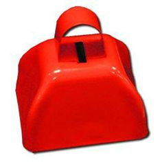 12 (1 Dozen) Red Cowbells - Football Noisemakers Sporting Events Fundraisers by Changhua, http://www.amazon.com/dp/B005G52GEM/ref=cm_sw_r_pi_dp_X8werb0RCH8KS