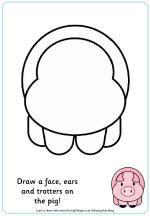 Maken het plaatje compleet varken