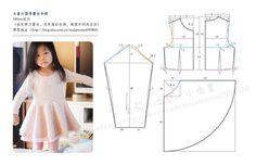 Vestido infantil manga longa