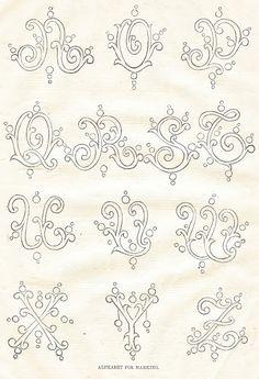 Antique Gráficos Quarta-feira - Três 1800 Alphabet Fontes