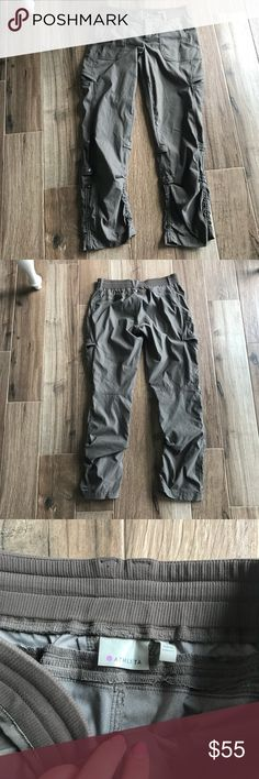 Athleta Shasta Pant Heather Grey Athleta Shasta Pant Falcon Heather size 8 in excellent condition. Perfect for working out or hiking. Urban styling, full stretch and snap don cinches for converting to three different lengths. Athleta Pants