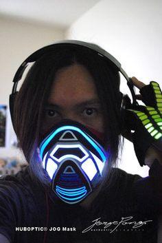 Sound Reactive Led Mask Light Up Face Mask